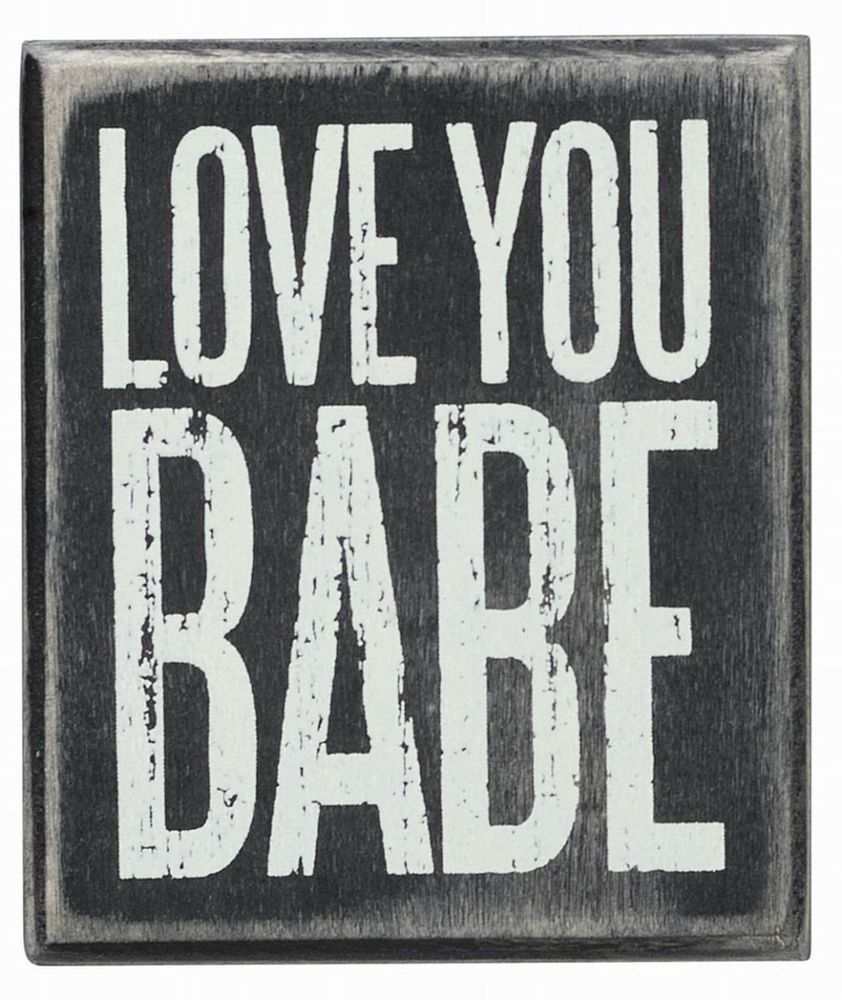 """Primitives by Kathy I LOVE YOU MORE THAN BACON Wooden Box Sign 3/"""" x 3/"""""""