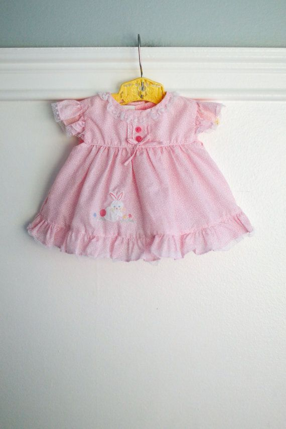 3-6 months: Pink Vintage Baby Girl Dress/Diaper by Petitpoesy