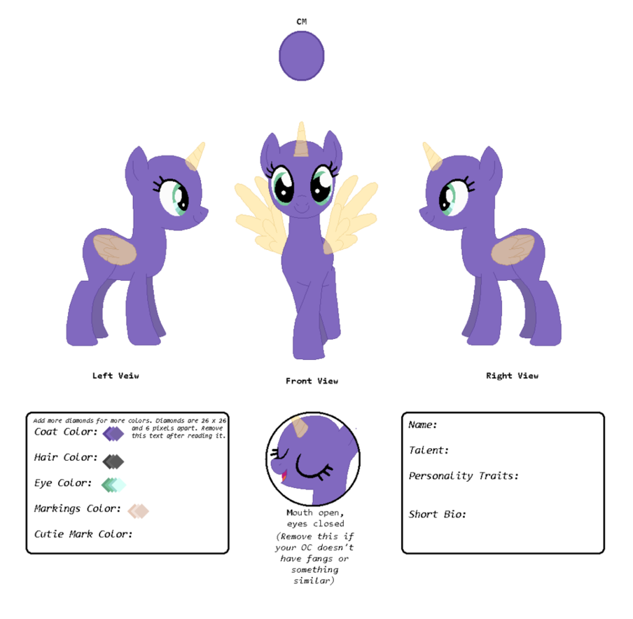 Base Reference Sheet Base By Flower Horse Mlp In 2019 Base