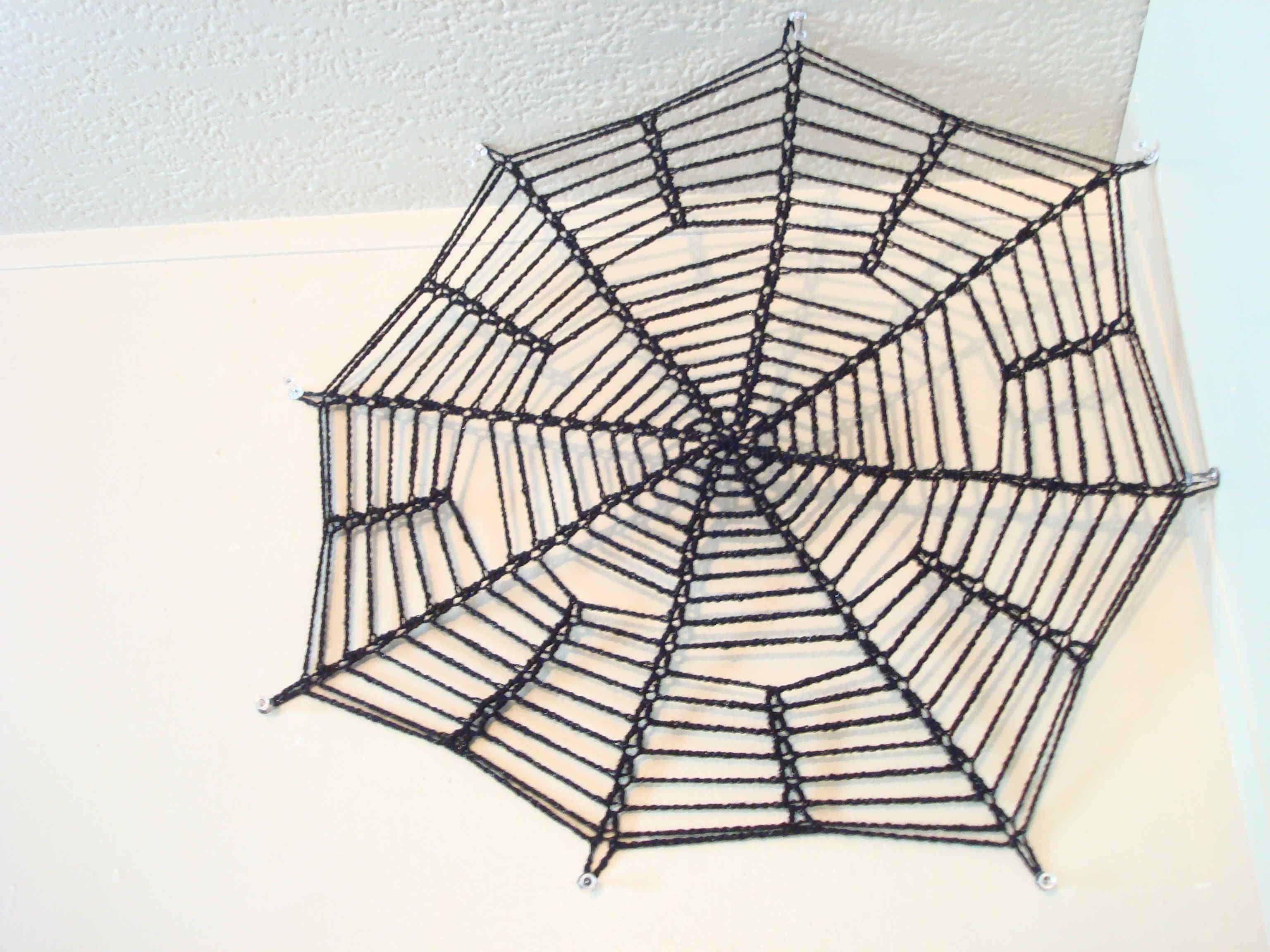 crocheted spider web | Crochet Spider Web & Spider for Halloween ...