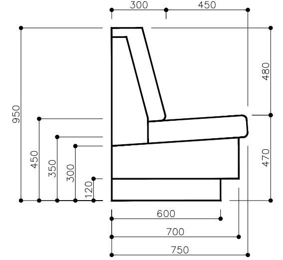 Banquette Seating Dimensions Metric Google Search Banquette Seating Banquette Seating Restaurant Restaurant Seating