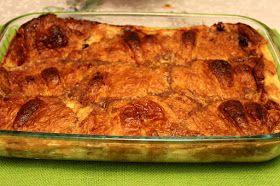Sweet Tea and Cornbread: Croissant Bread Pudding with Kentucky Bourbon Sauce!