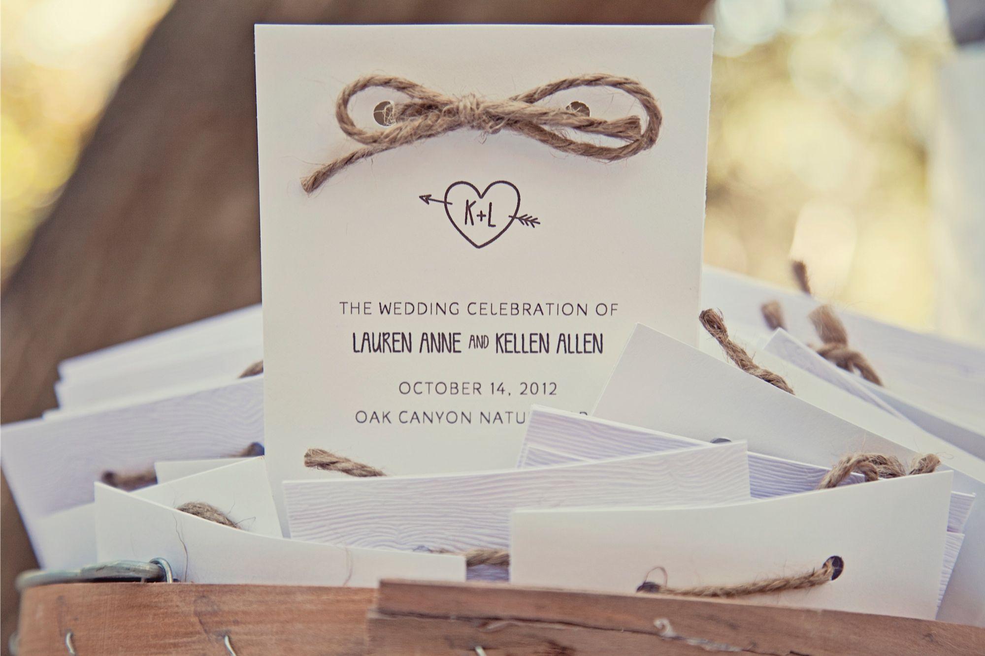 Lauren & Kellen\'s Outdoor Woodsy Wedding Invitations and Decor ...