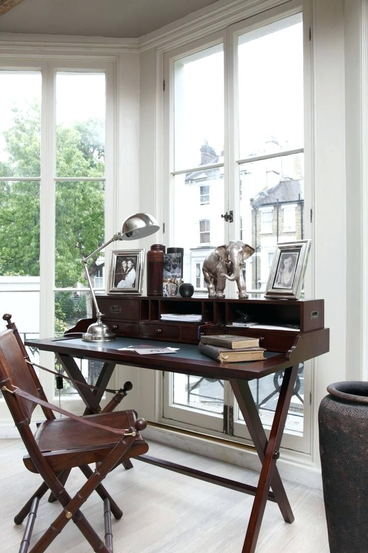 British Colonial Style Office Masculine Home Offices
