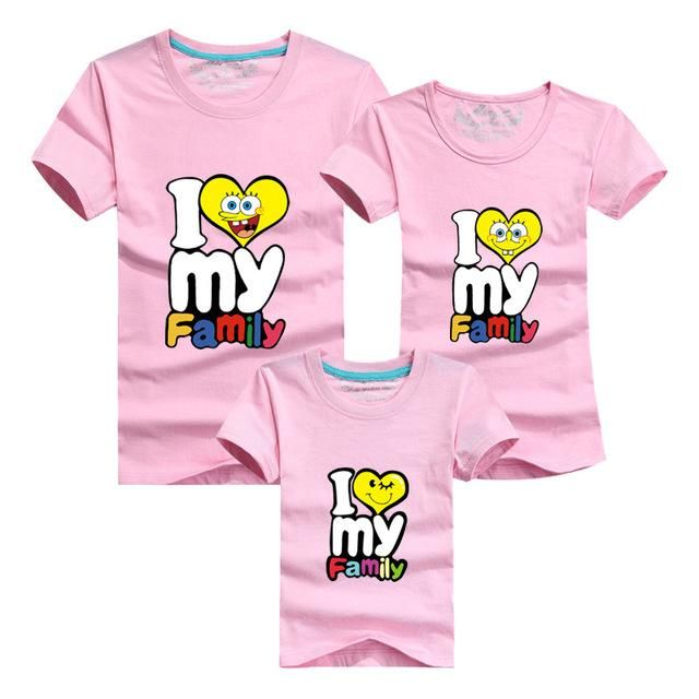 Matching Outfit T-Shirt Material: Cotton Item Type: T-Shirts Suitable season: Sp... 2