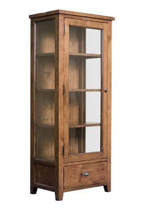 Elephant Furniture Bakersfield Single Door Glass Display Cabinet Bookcase With 1 Drawer 740mm X 4 Glass Cabinets Display Furniture Displaying Collections