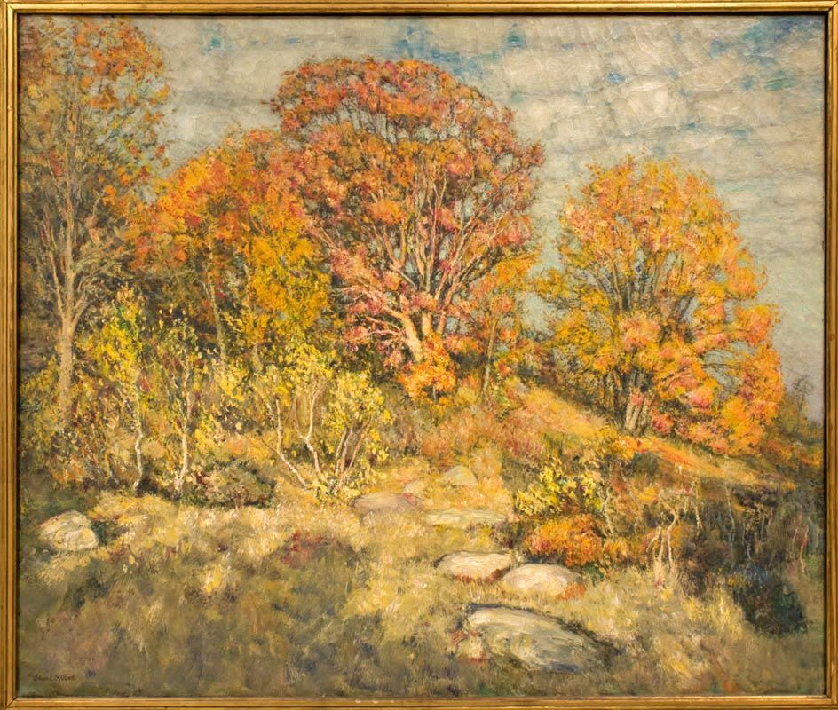 """The Hillock,"" Edward F. Rook, oil on canvas, Connecticut College."