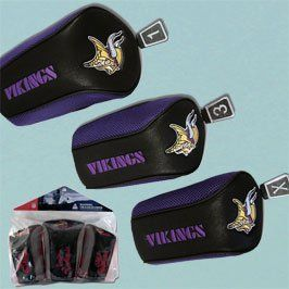 NFL Minnesota Vikings 3 Pack Mesh Longneck Headcover Set ** For more information, visit image link.