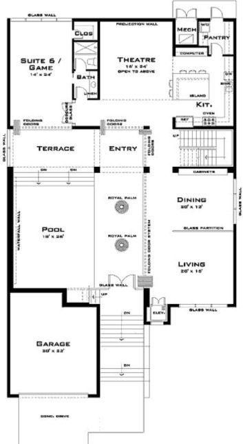planos de casas modernas 6 dormitorios