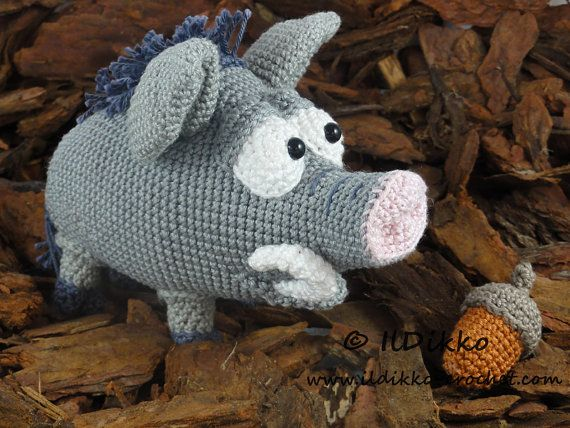 Amigurumi Crochet Pattern Wilbur The Wild Boar English Version