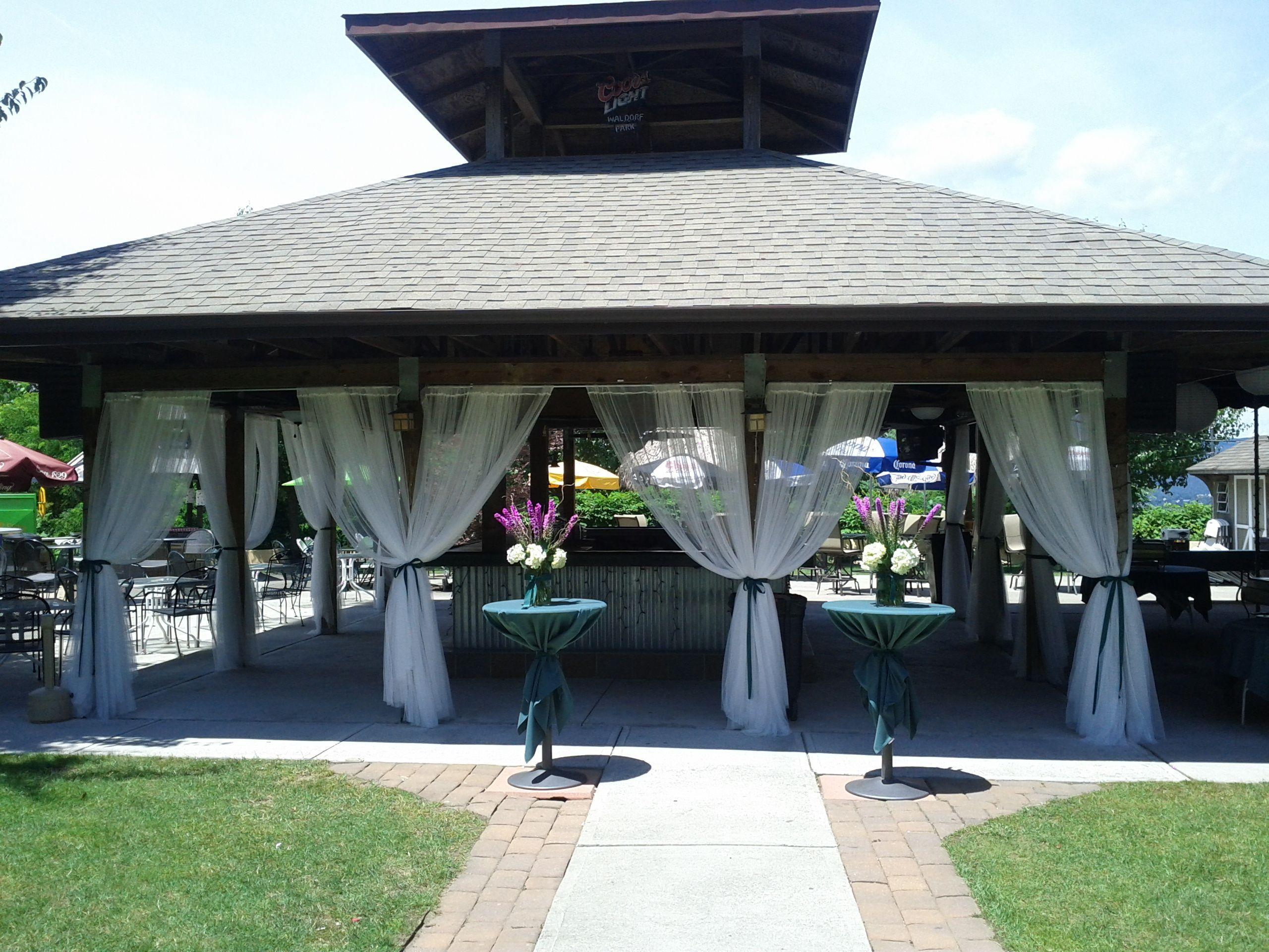 Pavilion Table Wedding Picnic Ideas Decorating