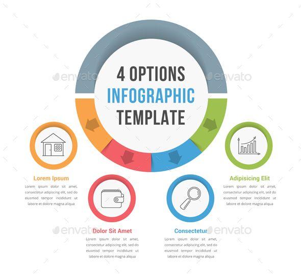 four options infographics template psd vector eps ai illustrator