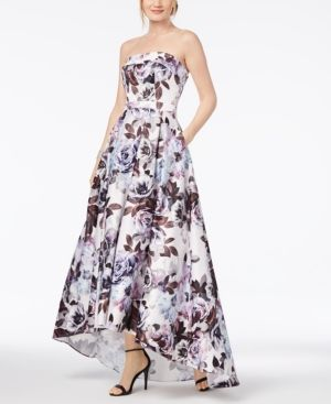 bc5b6f7d Xscape Strapless Floral-Print Ballgown - Blue 10 | Products ...