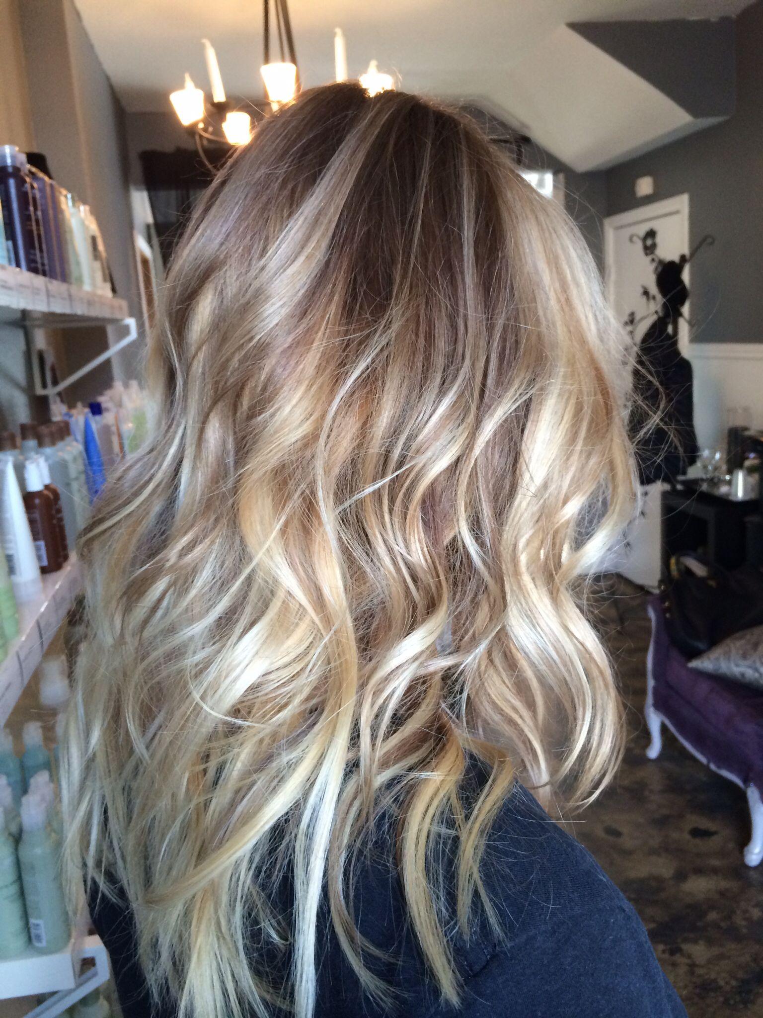 Avedacolor ombré and bayalage blonde holliskinghair hair