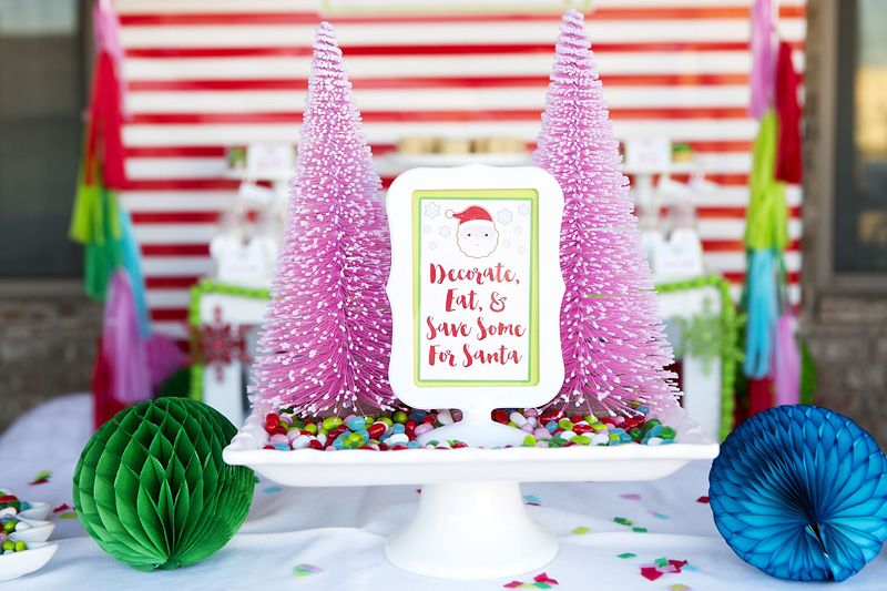 Cookie Exchange Christmas Party Free Printable. Colorful Christmas party.