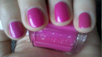 """Tour de Finance"" neon pink nail polish by Essie.  This color really pops!"