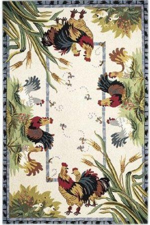 Rooster Kitchen Area Rugs Roosters Area Rug 2 6 X8 Kitchen Rug
