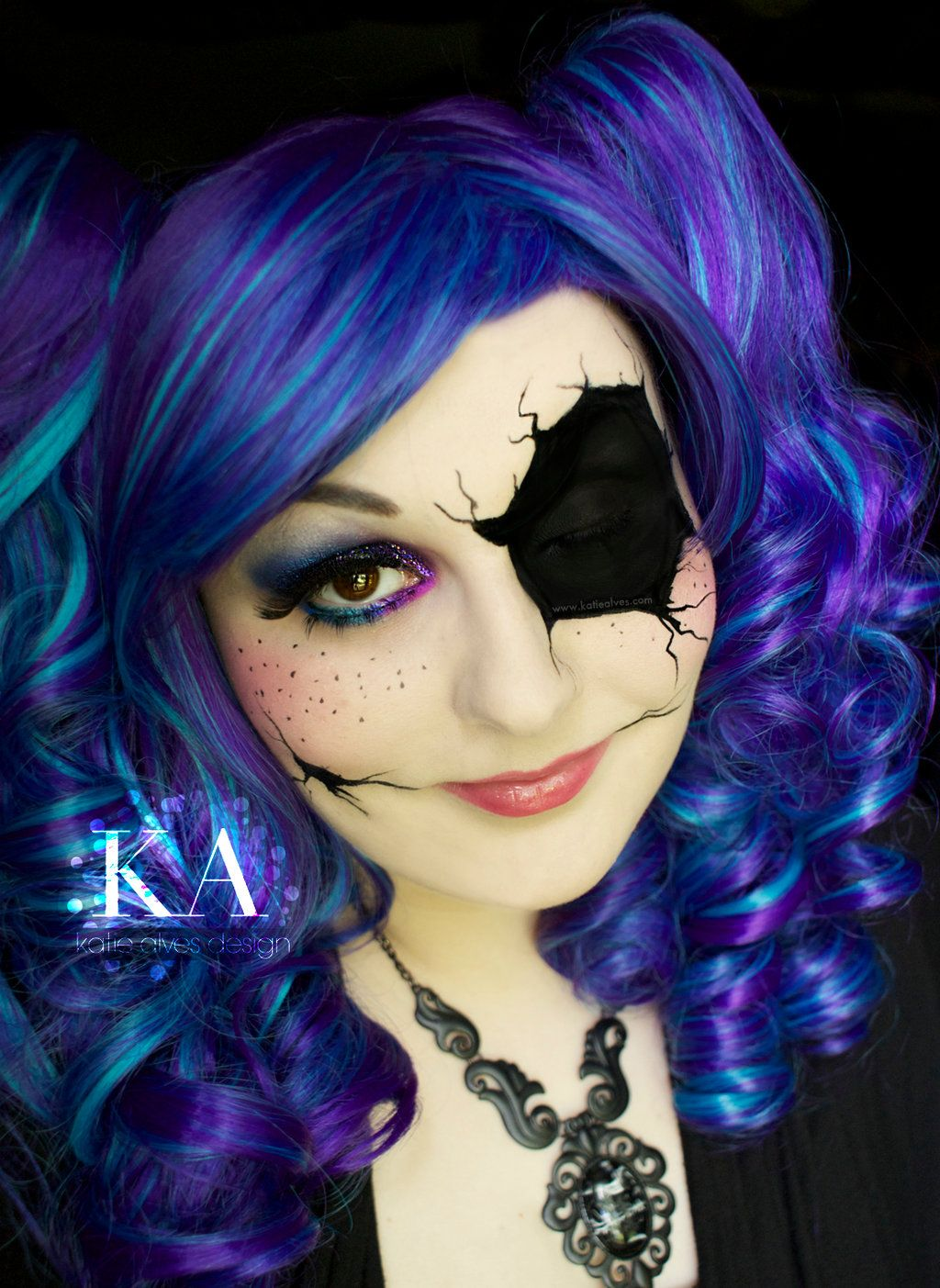 Broken Doll Halloween Makeup with Tutorial by KatieAlves ...