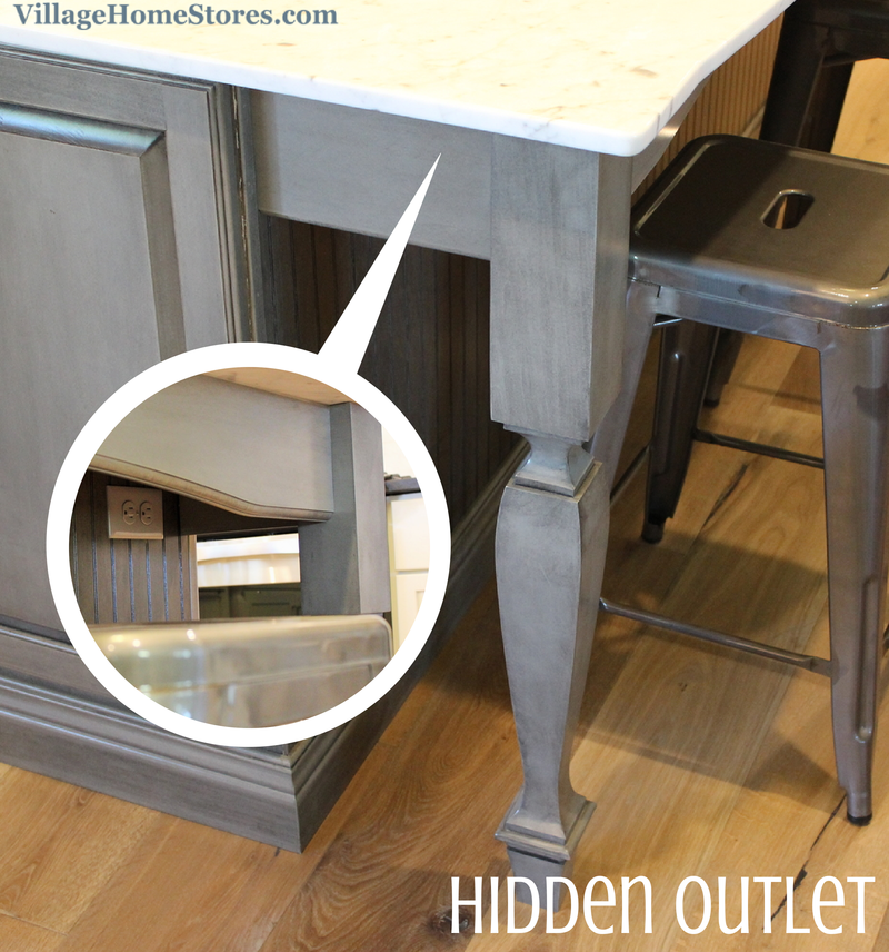 Kitchen Peninsula Counter Overhang: Hidden Outlet In Kitchen Island