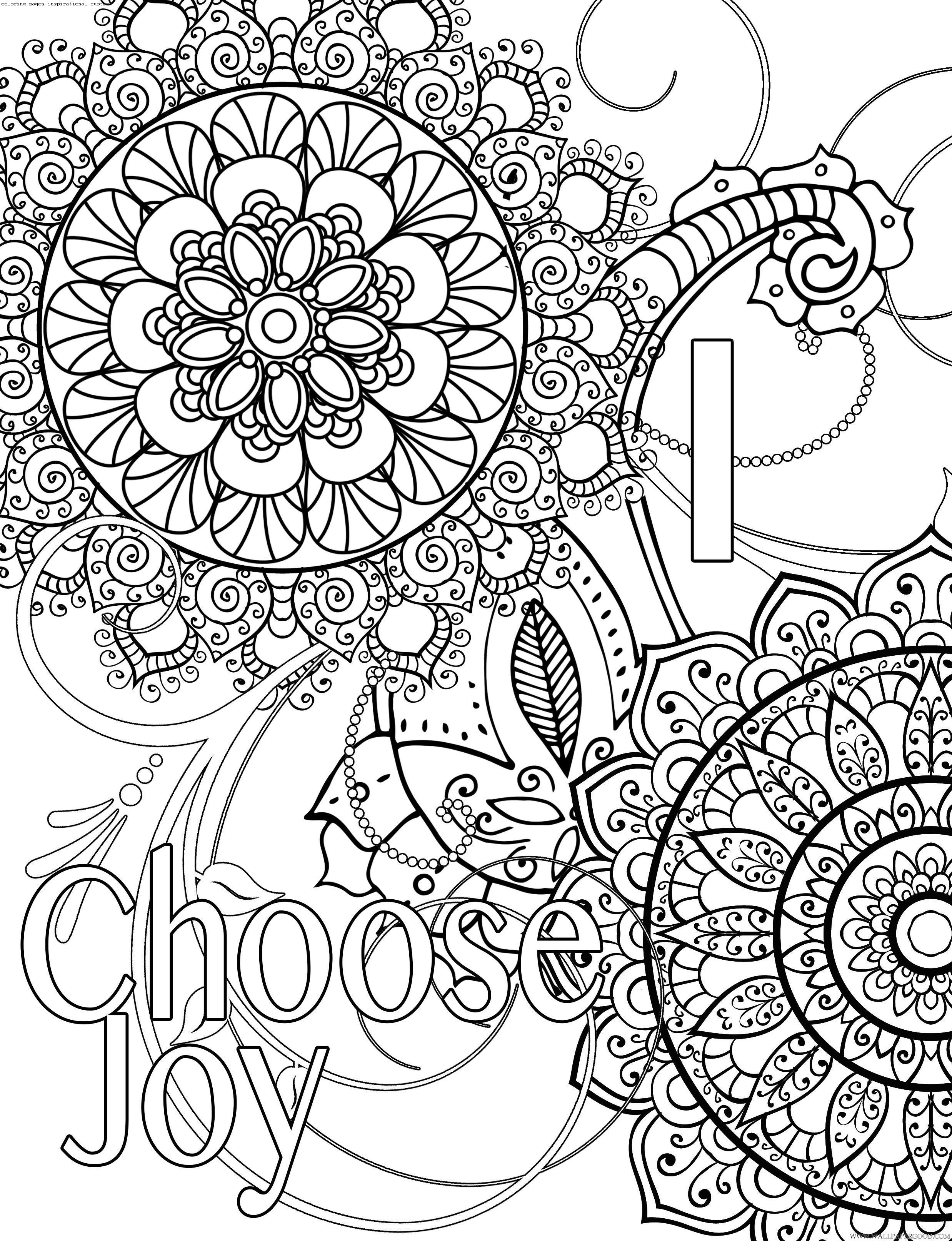 Free Printable Coloring Pages Inspirational Quotes  Coloring