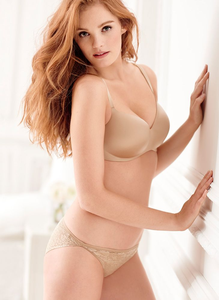 c9dd5d6671388 Neutral no-shows  our soft tan t-shirt bra and panties. Soma