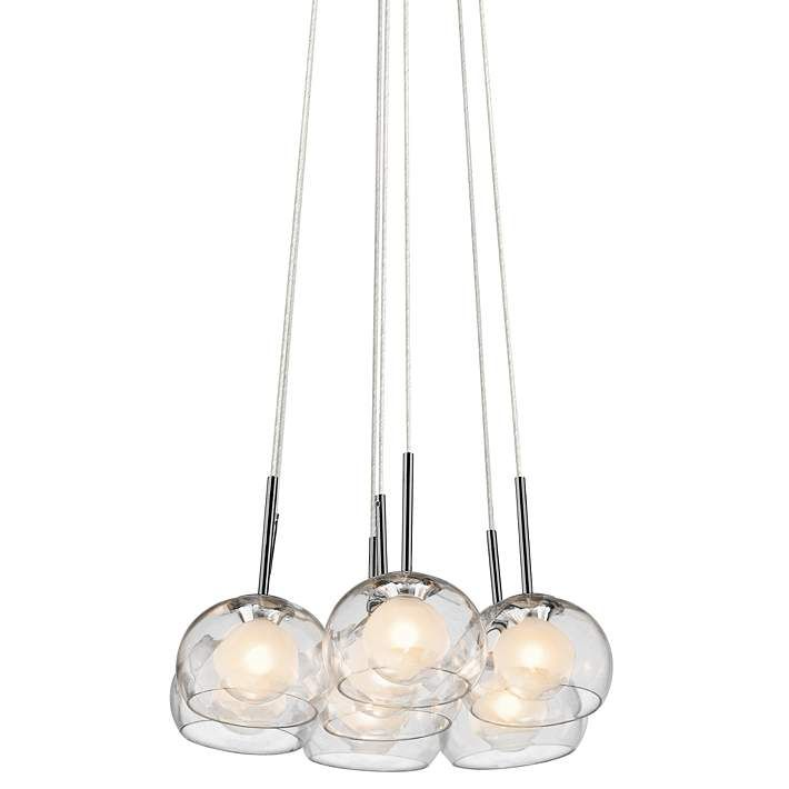Elan niu 16 1 4 wide optic glass multi light pendant 5k099