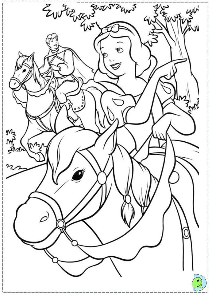 Coloring page   Disney   Pinterest   Snow white, Snow and Coloring books