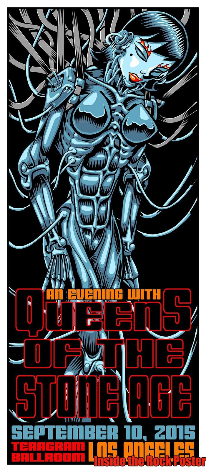Jim Evans TAZ Queens of the Stone Age Los Angeles Poster For Secret Show World Premiere Exclusive