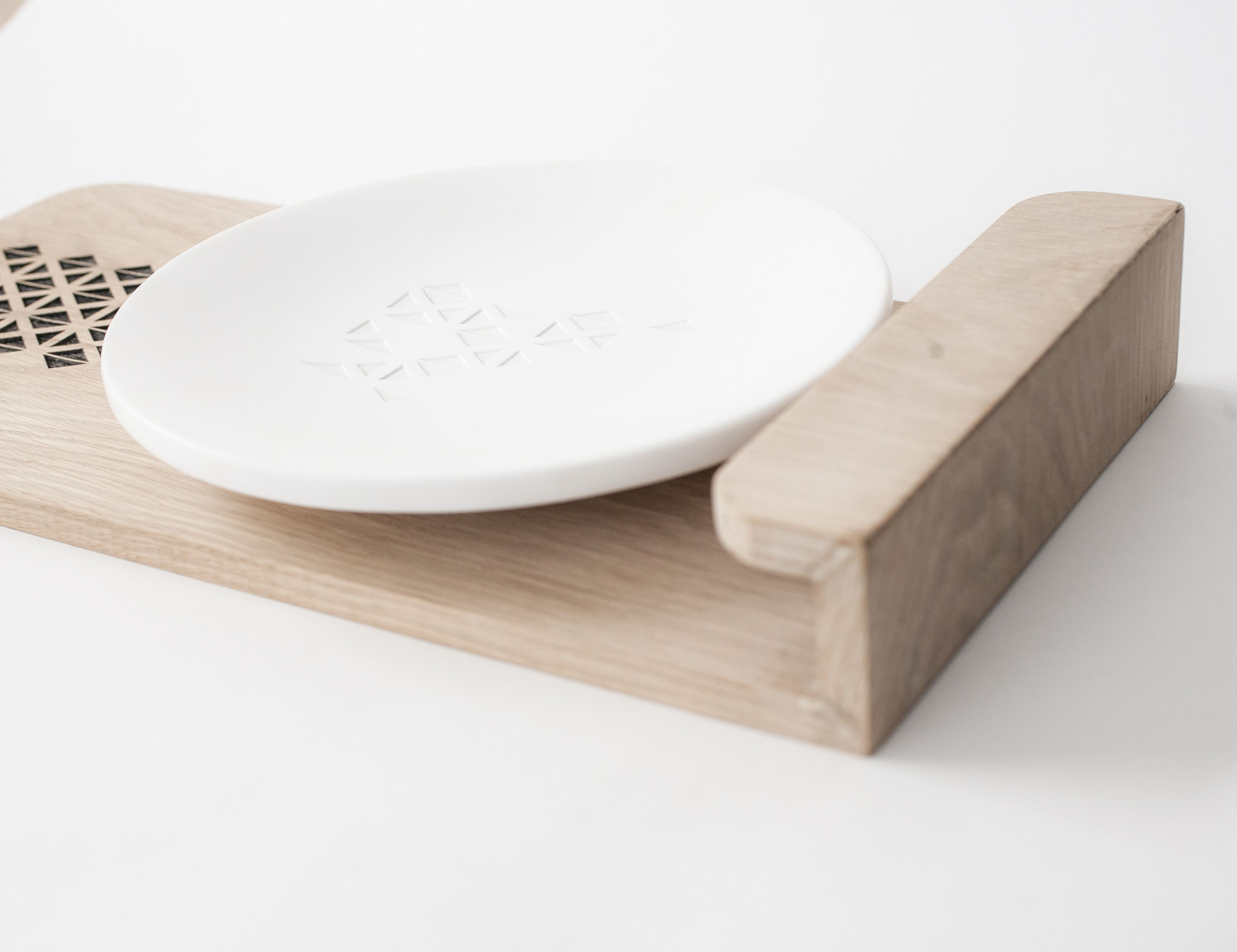 Superior Solid Oak Base In Laser Cut With Shapes From Cyprus Traditional Art  (embroidery) /