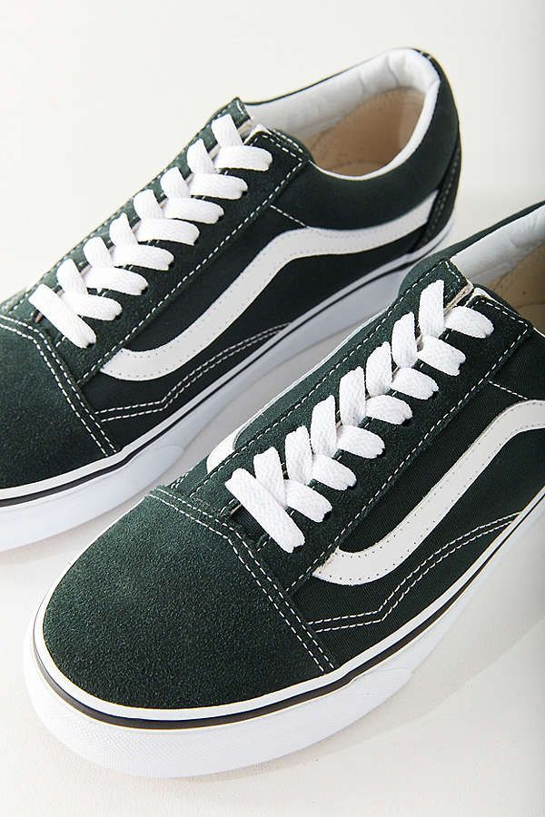 24e95e7422 Slide View  1  Vans Classic Old Skool Sneaker color  dark green size 7.5