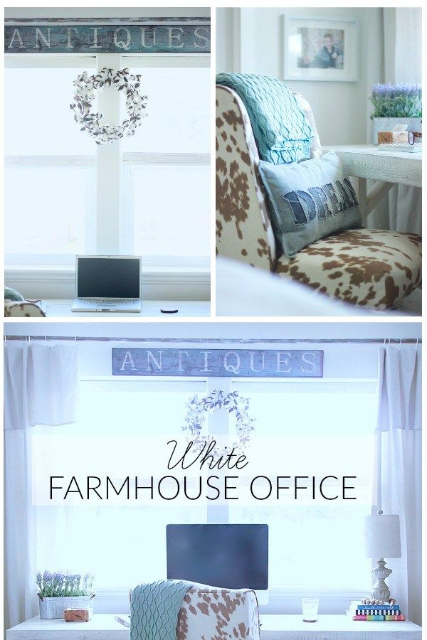 Our White Farmhouse Office How We Transformed From Ugly To Dream