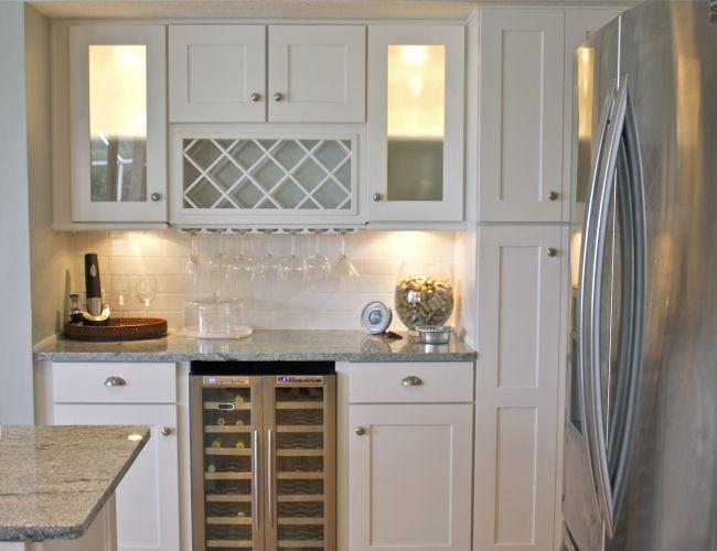 White kitchen/wine storage | Kitchen cabinets, Bar cabinet