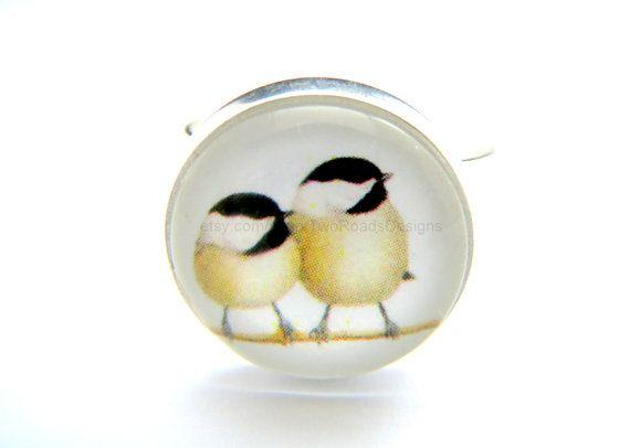 Ring  Chickadee Ring  Bird Ring  Bird Jewelry  by TwoRoadsDesigns, $9.50