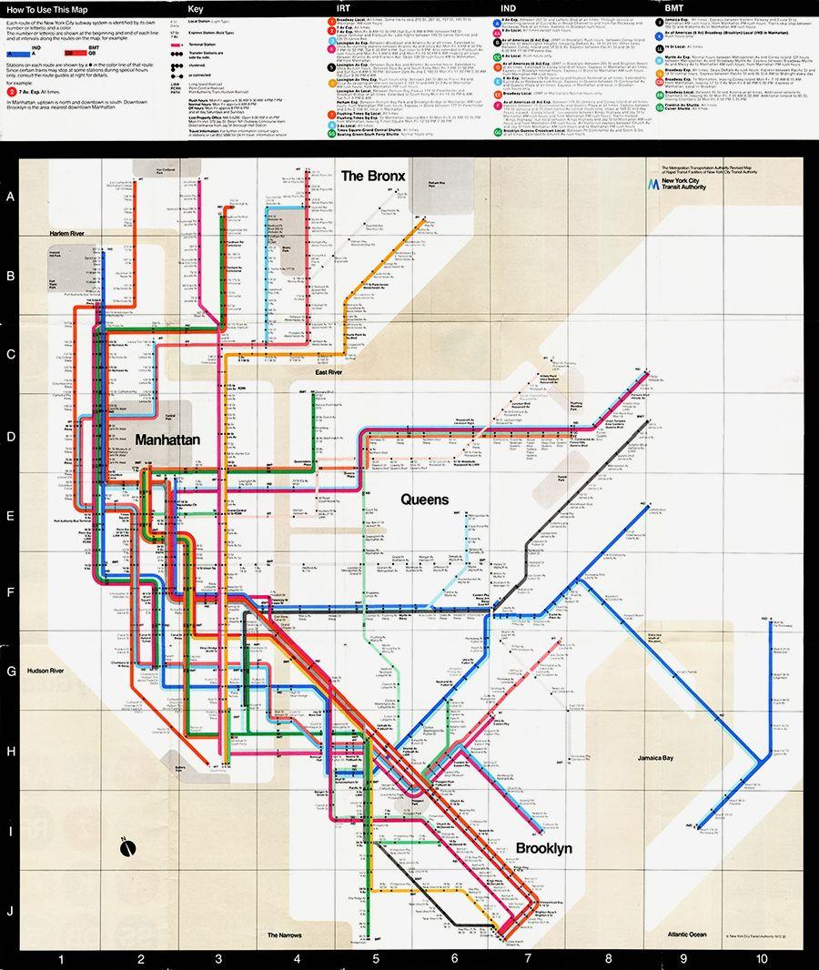 Subway Map Nyc 1970.Designculture Massimo Vignelli Layout Print And Binding Nyc