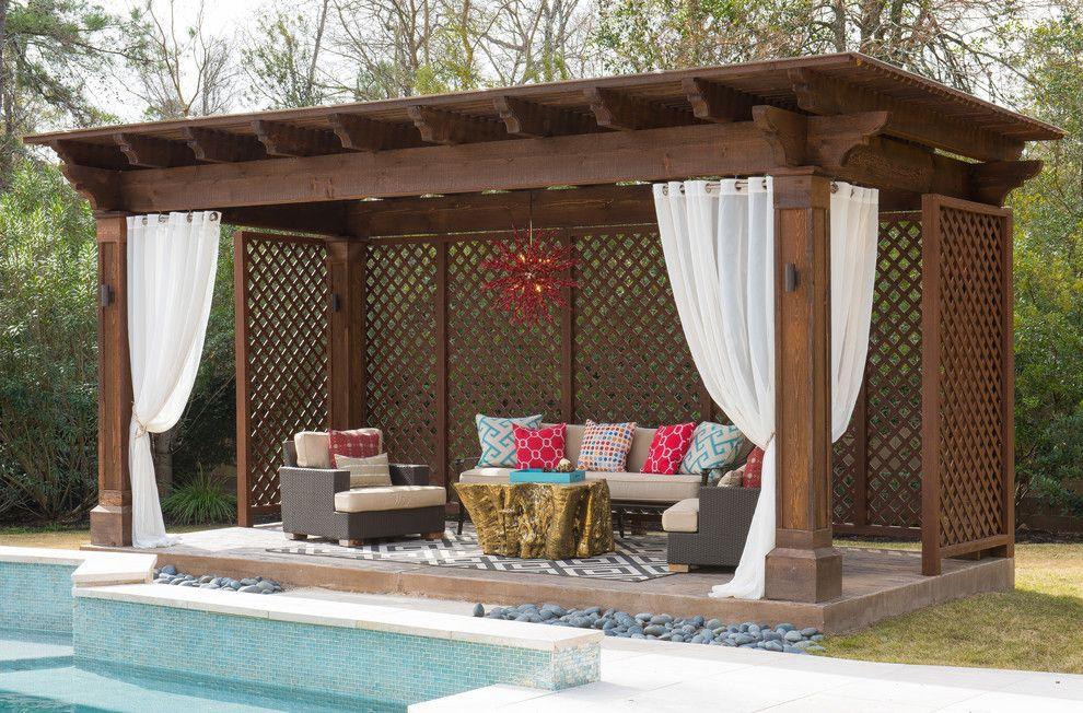 Screened Gazebo Plans Patio With Backyard Gazebo