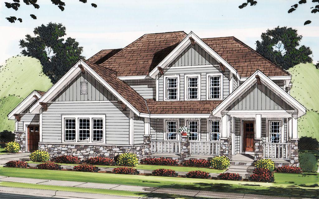 Two master craftsman house plan dj nd floor suite cad available corner lot loft pdf traditional architectural designs also dream plans rh pinterest