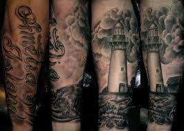 Resultado de imagen de Lighthouse Tattoo full arm