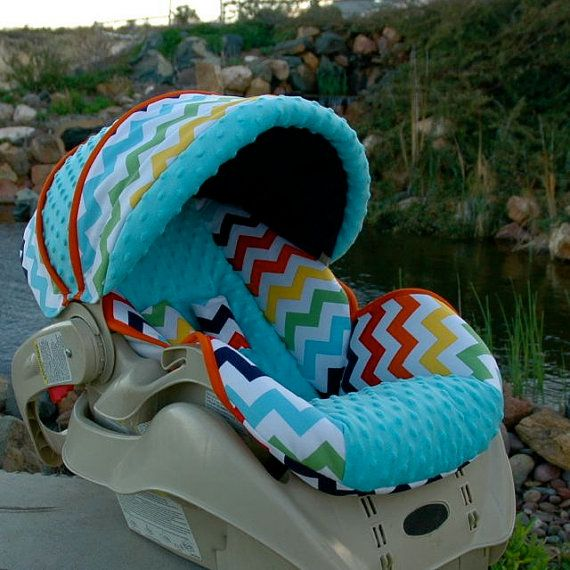 Custom Replacement Baby Car Seat Cover Graco Snugride 22- Rainbow ...
