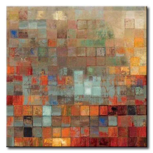 32 rev47 organized cuadro abstracto mosaico de - Mosaicos de colores ...