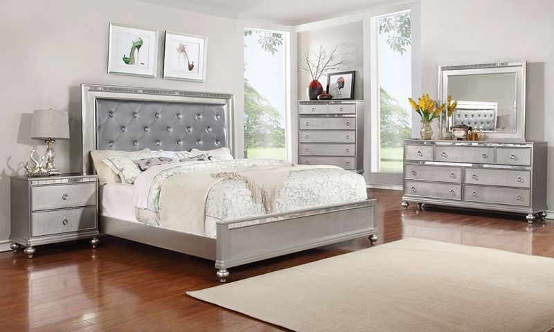 Marilyn Glam Upholstered Queen Bedroom Contemporary Bedroom Sets Bedroom Sets Bedroom Sets Queen