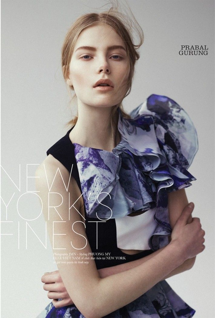 Sofie Theobald stars in an editorial for ELLE Vietnam's May issue