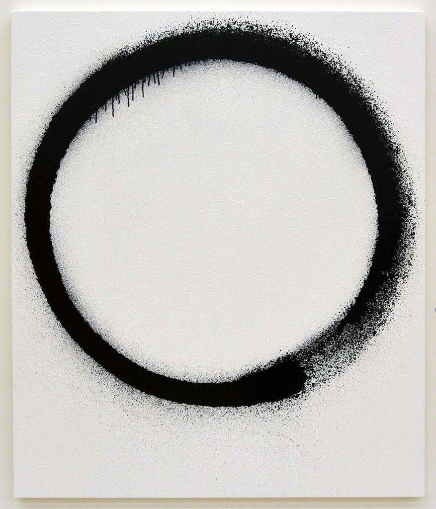 Takashi Murakami, Ensō: Zen, White and Black, 2015, Galerie Perrotin