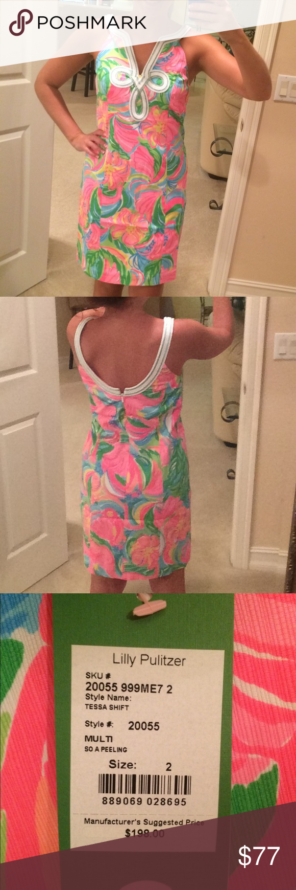 Lily Pulitzer dress size 2 Brand new; just too big for me. Tags still attached Lilly Pulitzer Dresses Midi