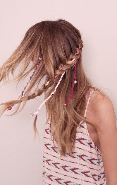 Braids and Hair Wraps | bohemian | Pinterest