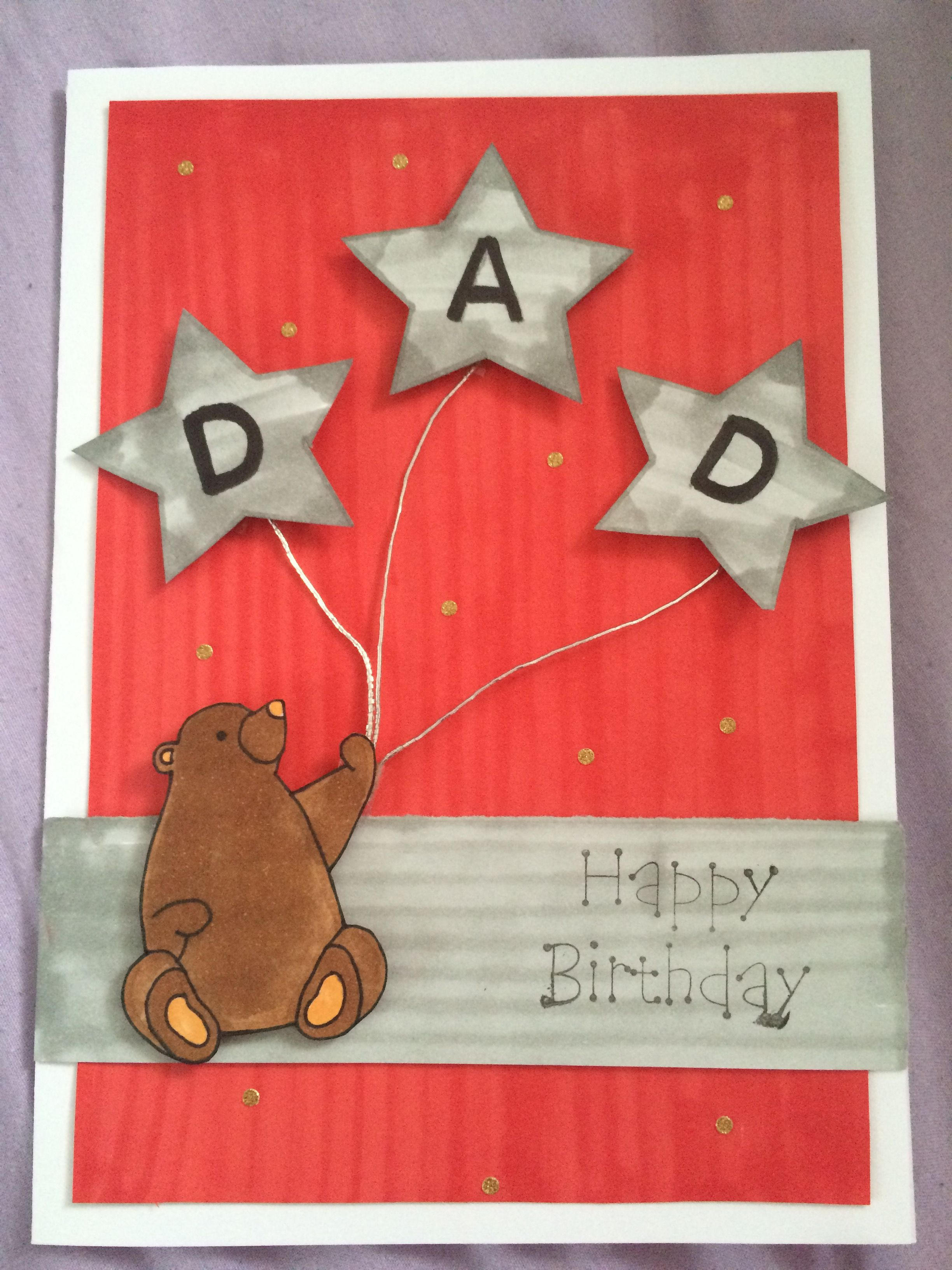 Dad Card Ideas. Handmade Cards. Made By Katie Alty.