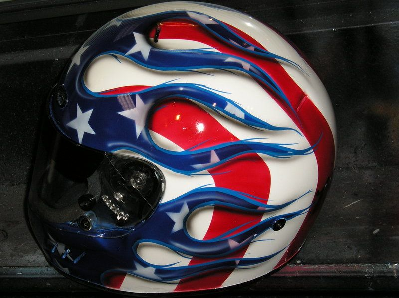 Painted like a flag | american flag helmet by ~chrisfurguson