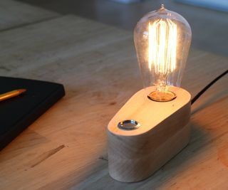 Thereu0027s No Substitute For The Warm Glow Of A Vintage Incandescent  Lightbulb. This Instructable Shows You How To Make A Stylish, Minimal Table  Lamp In 3 ...