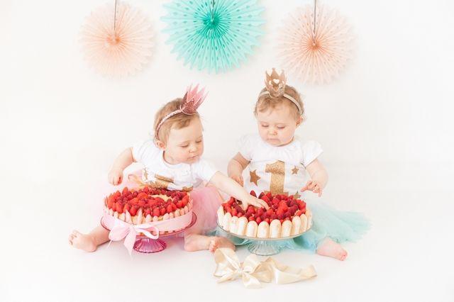 1 Séance Smash The Cake Entre Jumelles Twins 1 An