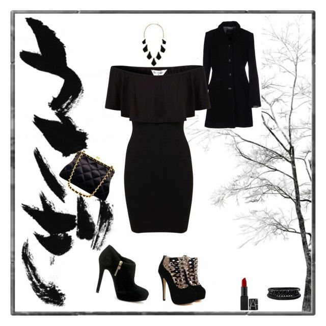 """""""night at the club"""" by lillianwilson00 ❤ liked on Polyvore featuring Harmont & Blaine, MICHAEL Michael Kors, Miss Selfridge, Chanel, Kendra Scott and Spring Street"""