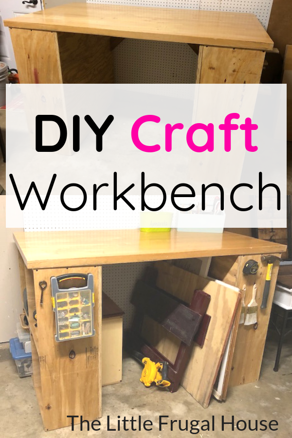 Diy Craft Workbench With Storage Cubes Diy Gift Ideas Diy
